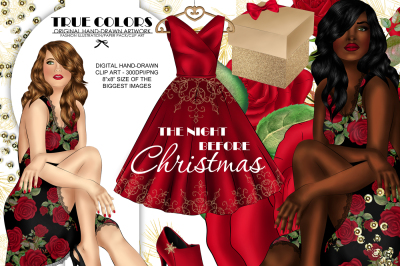 Christmas Clip art Afro American Clipart Christmas Clipart African American Clip Art Fashion Girl Clip Art Planne Girl Clip Art African Clip