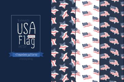 USA grunge flag/American flag