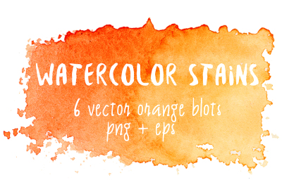 Orange watercolor stains