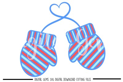 Mittens SVG / DXF / EPS / PNG Files