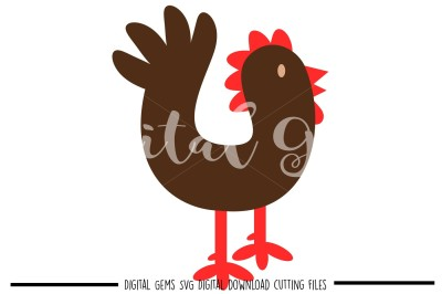 Chicken SVG / DXF / EPS / PNG Files