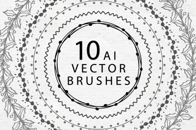Set of Christmas Vector Brushes