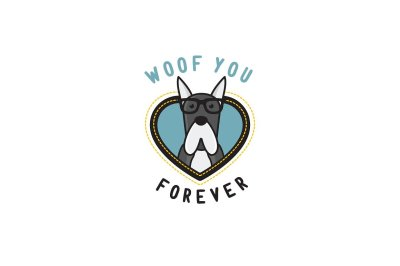 Woof You Forever - Punny Design