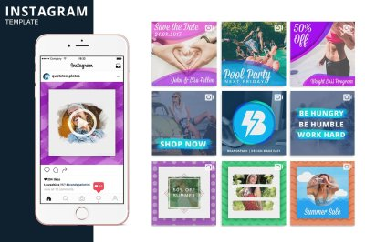 Instagram Video Photoshop Templates