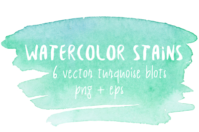 Mint watercolor stains