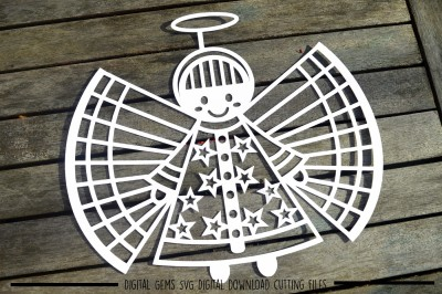 Angel paper cut SVG / DXF / EPS Files