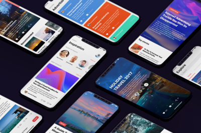 Social Mobile UI Kit for iphoneX
