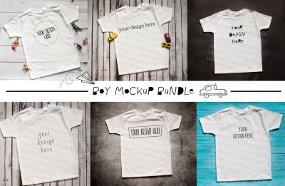 The Ultimate Boys T Shirt Mock-Up Bundle