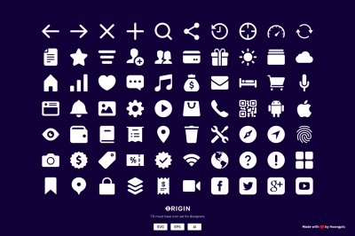 70 MUST HAVE Interface icon sets