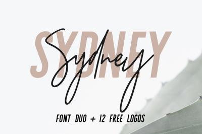 Sydney   Font Duo + 12 Free Logos