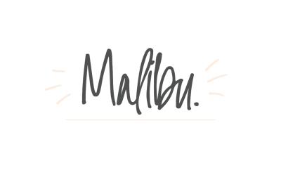 Malibu   A Handwritten Font
