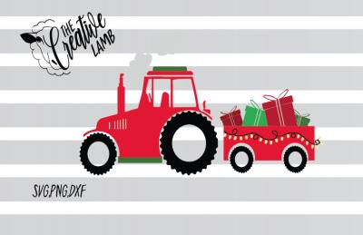 Christmas Tractor SVG
