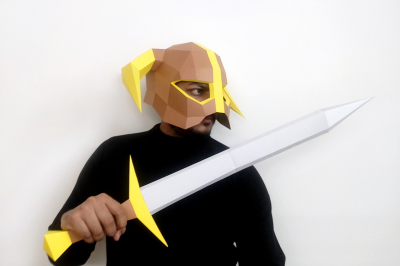DIY Barbarian Helmet & Sword - 3d papercraft