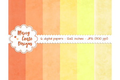 Chalkboard Backgrounds in Shades of Yellow & Orange