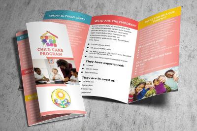 Children Care Center Trifold Template