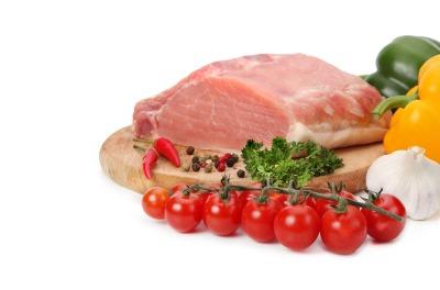 raw meat on wood board