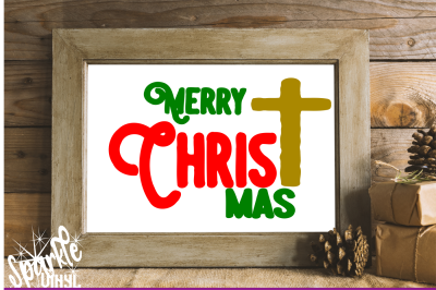 Merry Christ Mas svg, Merry Christmas svg, svg Christmas, Christmas svg, Christian svg, Merry Christmas sign stencil cut file for Silhouette Cricut