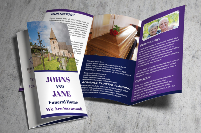 Funeral Services Trifold Template