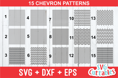 Chevron patterns set of 15 svg cut files