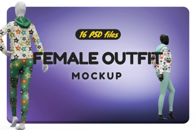Female Sport Outfit Vol.2 Mockup