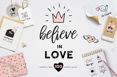 Believe in Love - Valentines set