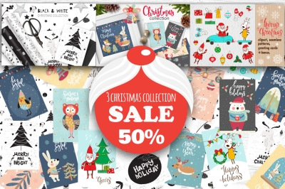 3 Christmas collection - sale 50%