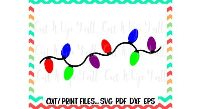 Christmas Lights Svg/ Holiday Lights/ Christmas Clipart/ Printable Pdf/ Print and Cut Files/ Silhouette Cameo/ Cricut & More