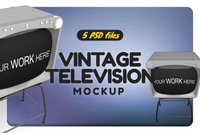 Vintage TV Mockup