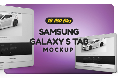 Samsung Galaxy Tab S Tab Mockup