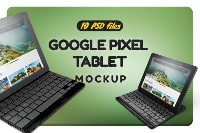 Google Pixel C Tablet Mockup