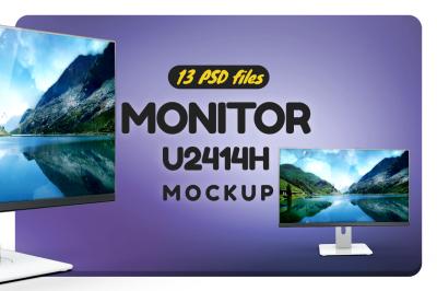 Monitor U2414h Mockup