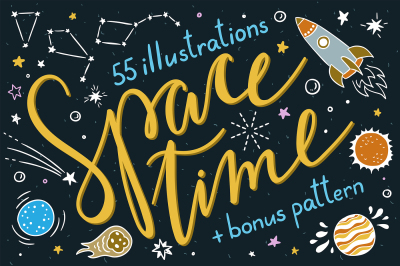 Space Time Illustrations + Pattern