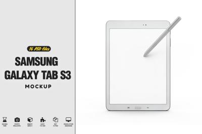 Samsung Galaxy Tab s3 Mockup