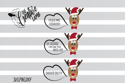 CUTE & SILLY REINDEERS SVG