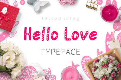 Hello Love - Valentine's Day Font