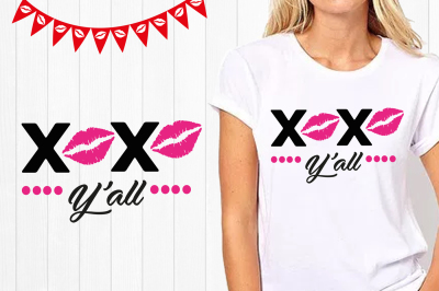 Kiss svg, xoxo yall svg, Happy Valentines Day SVG Files, kiss clipart, Silhouette Studio, vector, file for cutting machines, kisses
