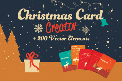 Christmas CardCreator + 200 Elements