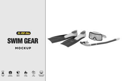 Swim Gear Equipment Mockup