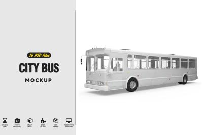 City Buss Mockup