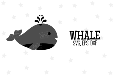 Whale SVG, Cut File