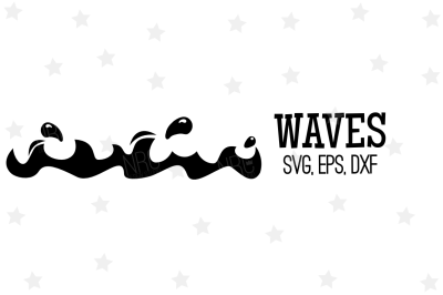 Waves SVG, Cut File