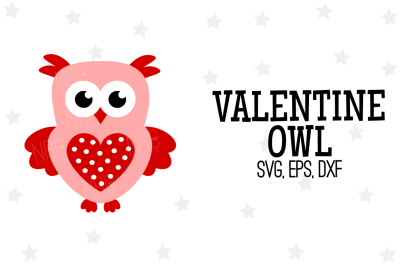 Valentine Owl SVG, Cut File