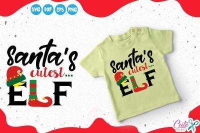 Elf Family SVG Cut File, Santa's cutest elf svg, santa svg Elf Christmas Vector, Elf Baby, Elf Svg Cut File, Cuttable, Christmas clipart