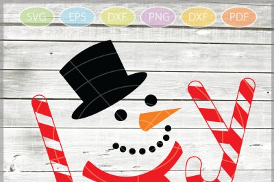 Joy SVG - Snowman Svg - Christmas SVG - Snowman Joy SVG - Xmas svg - Cutting File - Winter clipart - Svg - Dxf - Eps - Png - Jpg - Pdf