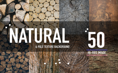 50 Natural & pole wood background texture