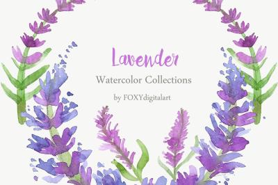 Lavender Clipart Watercolor Lavender Clipart