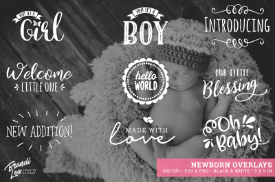Newborn Photography Overlays