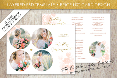 PSD Photo Price Guide Card Template #12