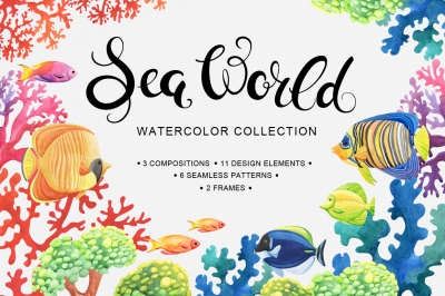 Sea World watercolor collection