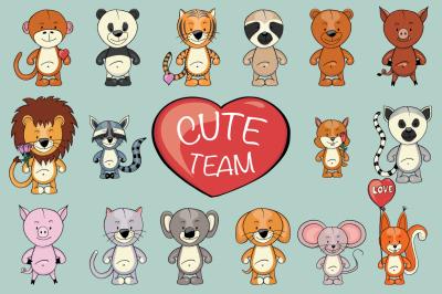Cute Team | Animals clipart creator
